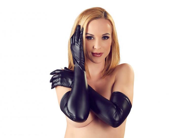 Lange Handschuhe im trendigen Mattlook