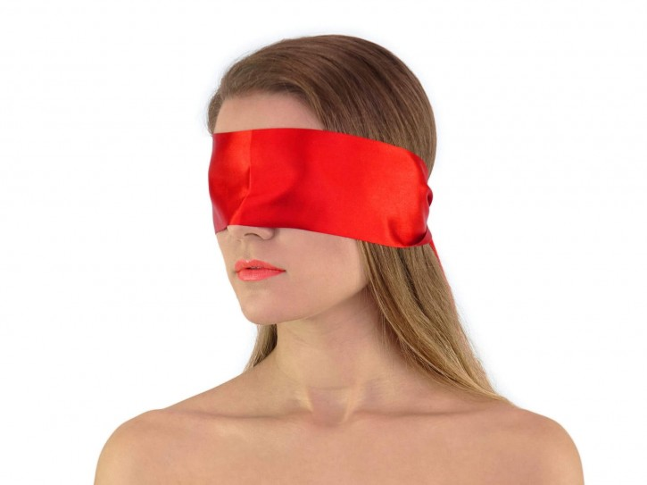 Premium Satin BDSM Augenbinde Rot