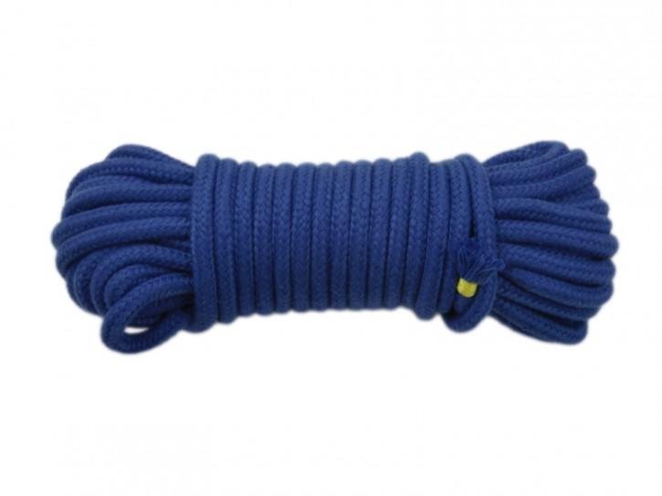10m Bondage-Seil Baumwolle blau