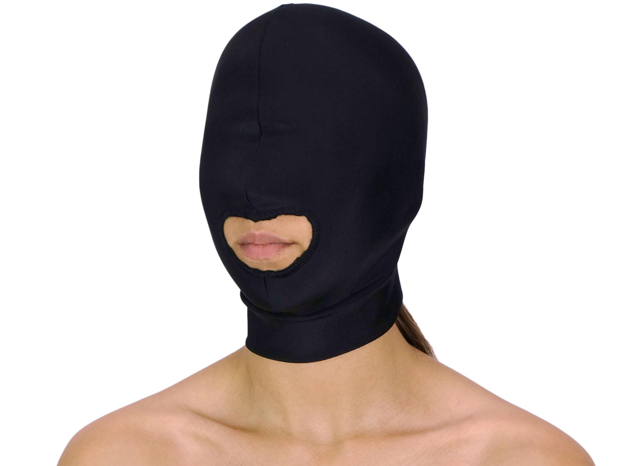 Dehnbare Kopfmaske mit Mundöffnung