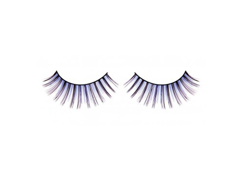 Deluxe Wimpern in schwarz / blau