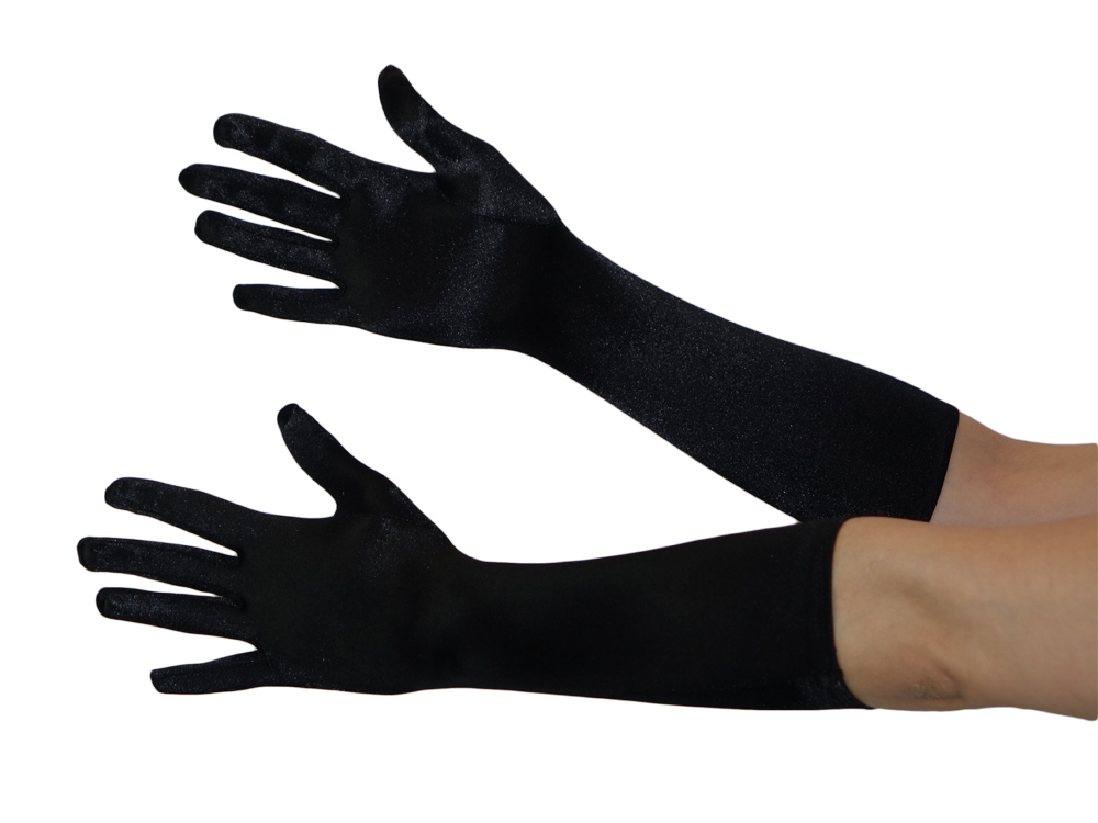 Lange Handschuhe in schwarz