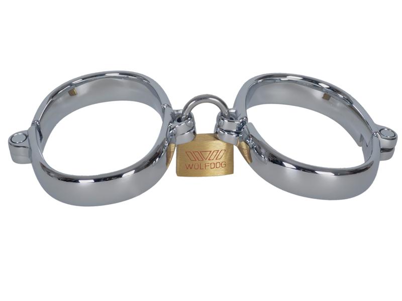 Chrom Handeisen Handschellen mit Schloß