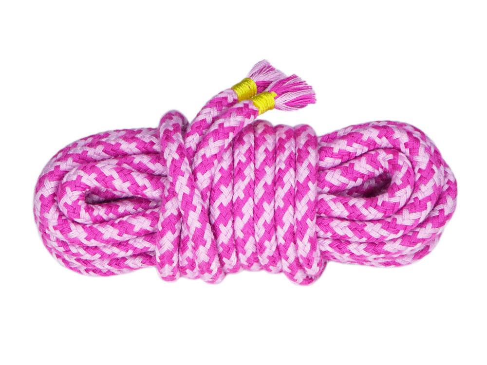 5m Bondage-Seil Baumwolle 2-farbig Rosa Pink
