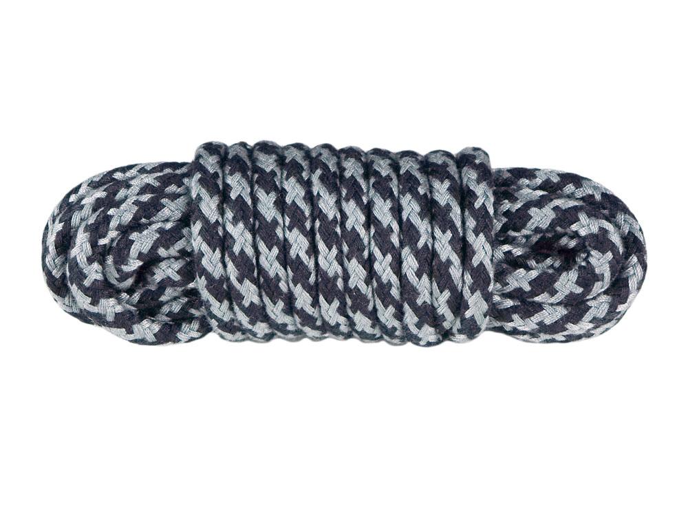 5m Bondageseil 2-farbig schwarz grau