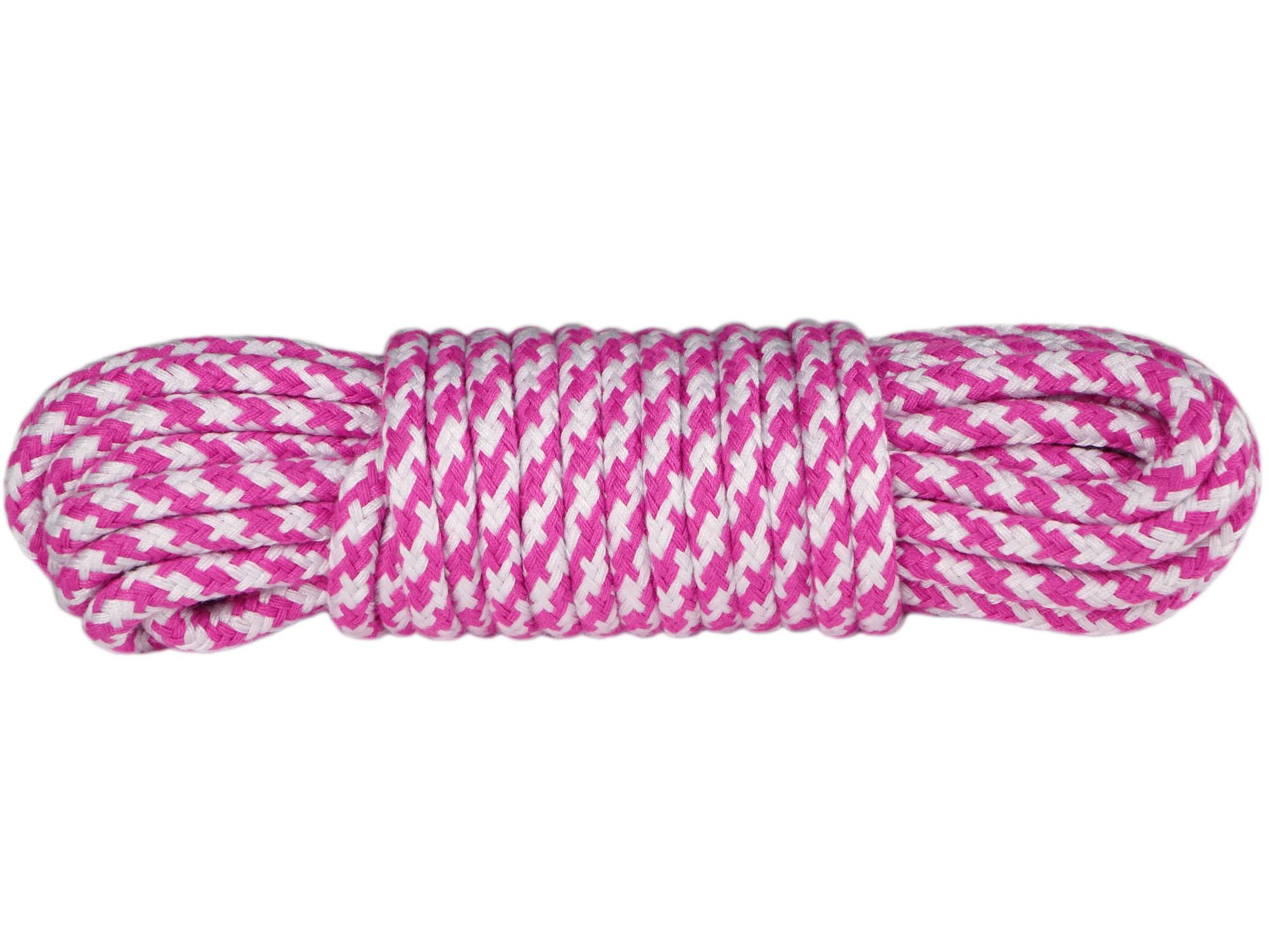 10m Bondageseil 2-farbig Pink Weiß