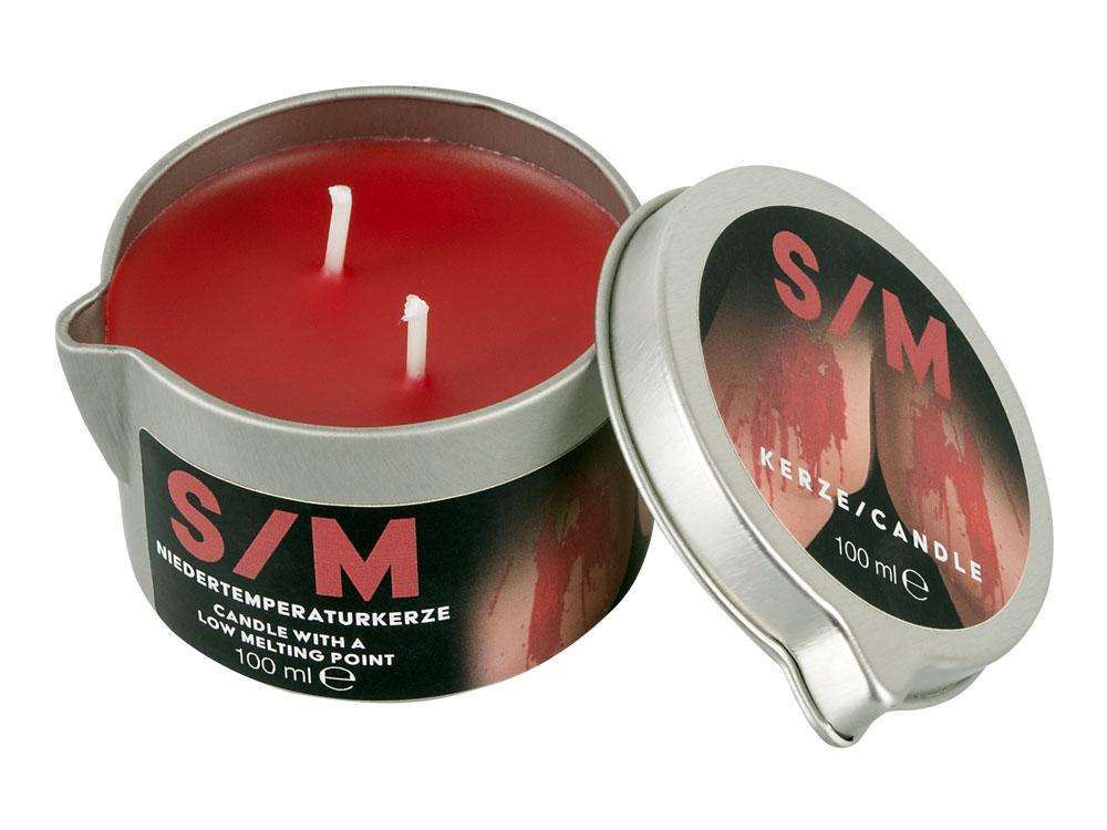 SM Kerze Niedertemperaturkerze im Tiegel 100 ml rot