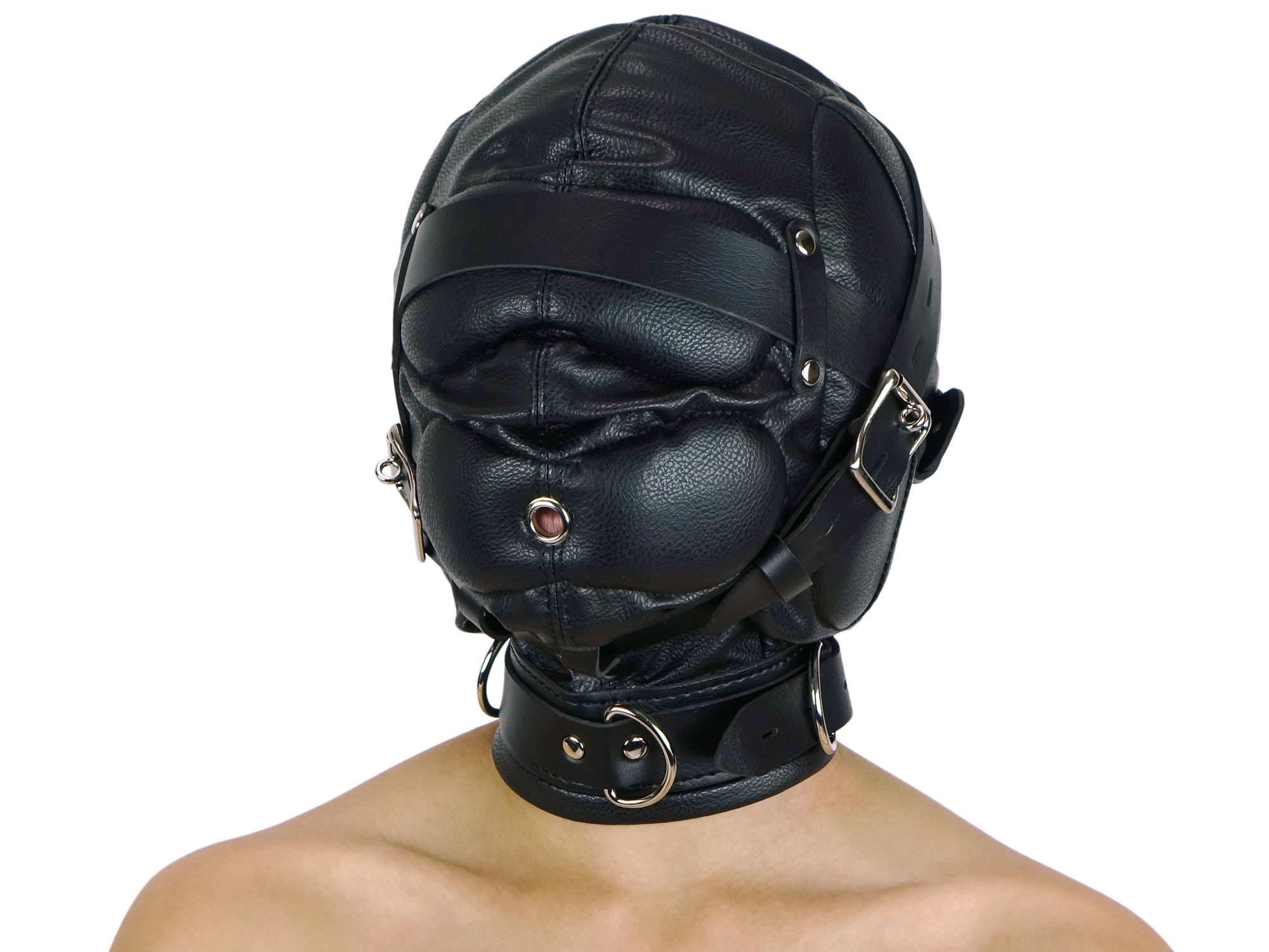 Isolationsmaske ohne Augenlöcher Maske schwarz