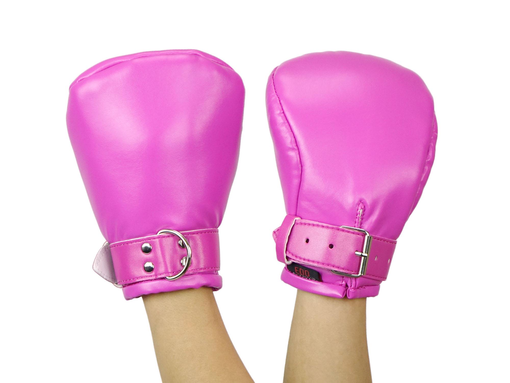 Bondage und BDSM Fäustlinge Fist Mitts Pink