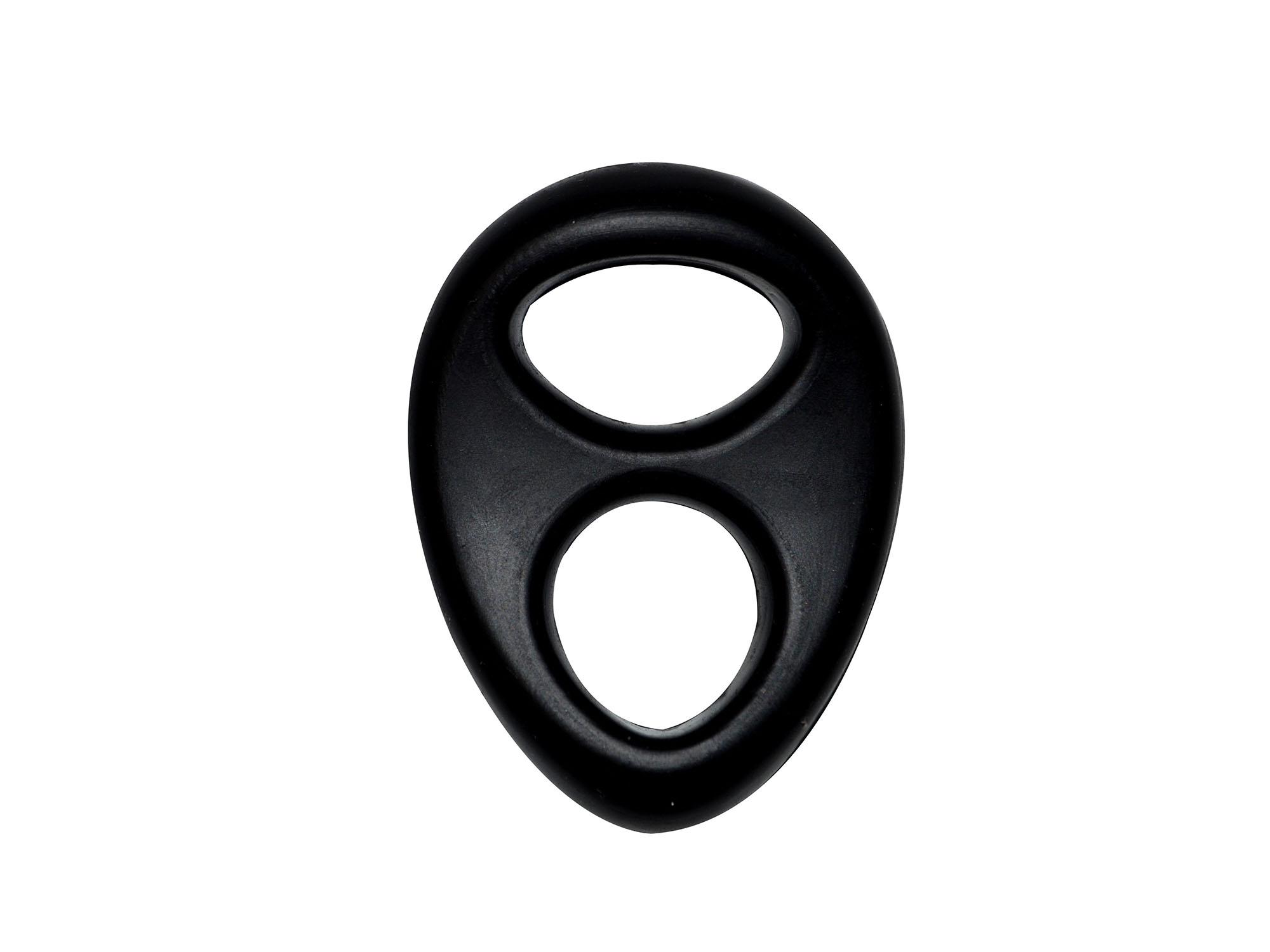 Dream Toys Lit-Up 2-Loch Power-Penisring schwarz