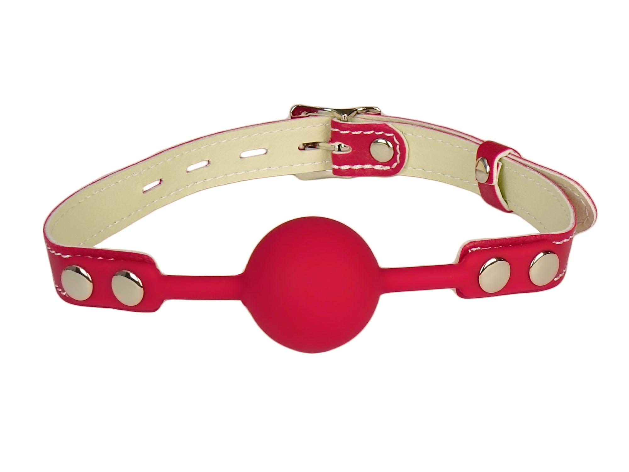 Komfort Silikon Knebel rot abschliessbar