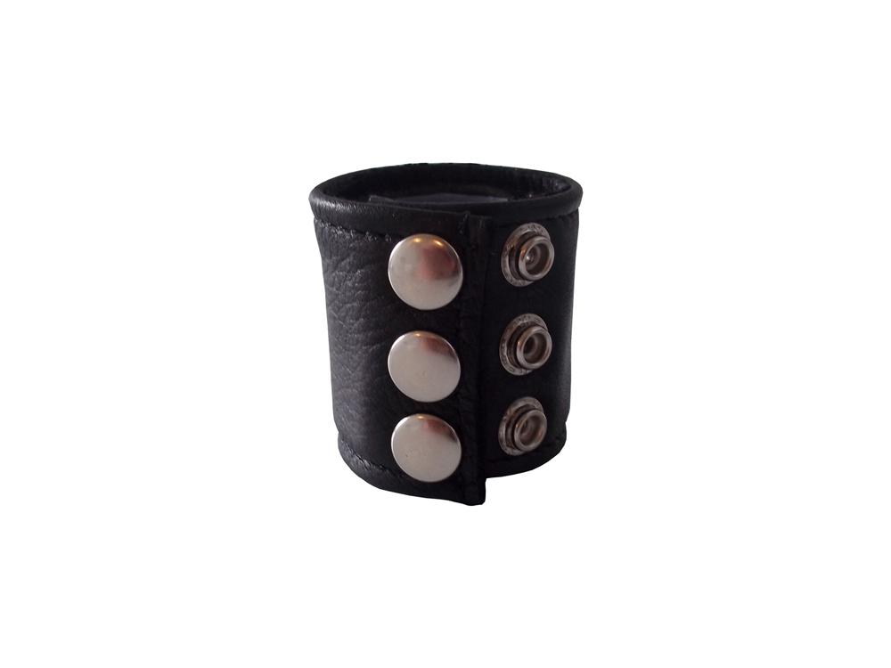 Ballstretcher Cockring extra breit mit Druckknöpfen