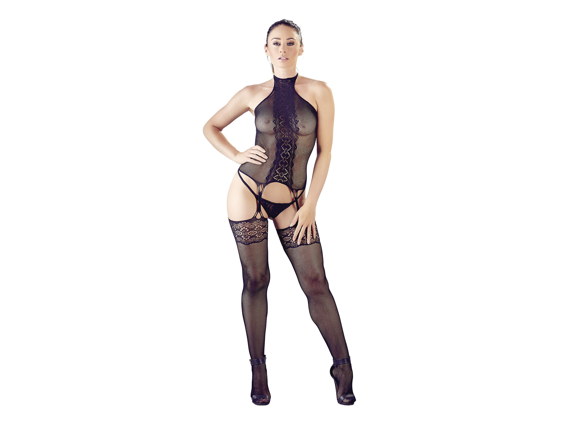 Catsuit in Strapshemd-Set Design