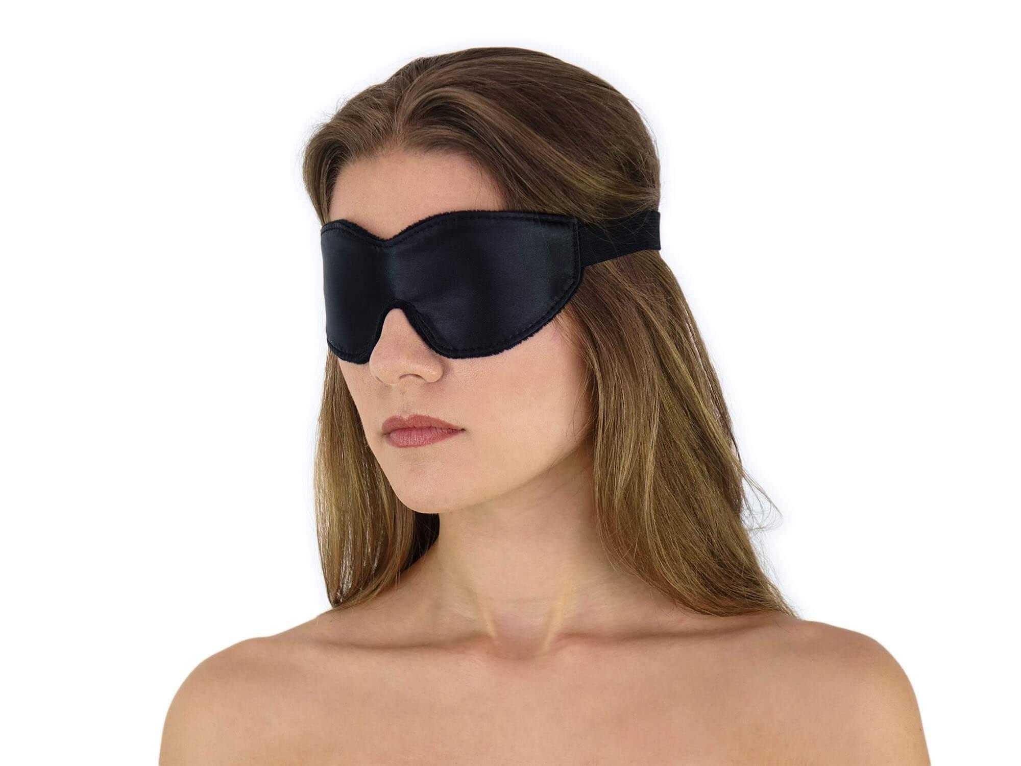 Weiche komfort Augenbinde mit Gummizug Schwarz