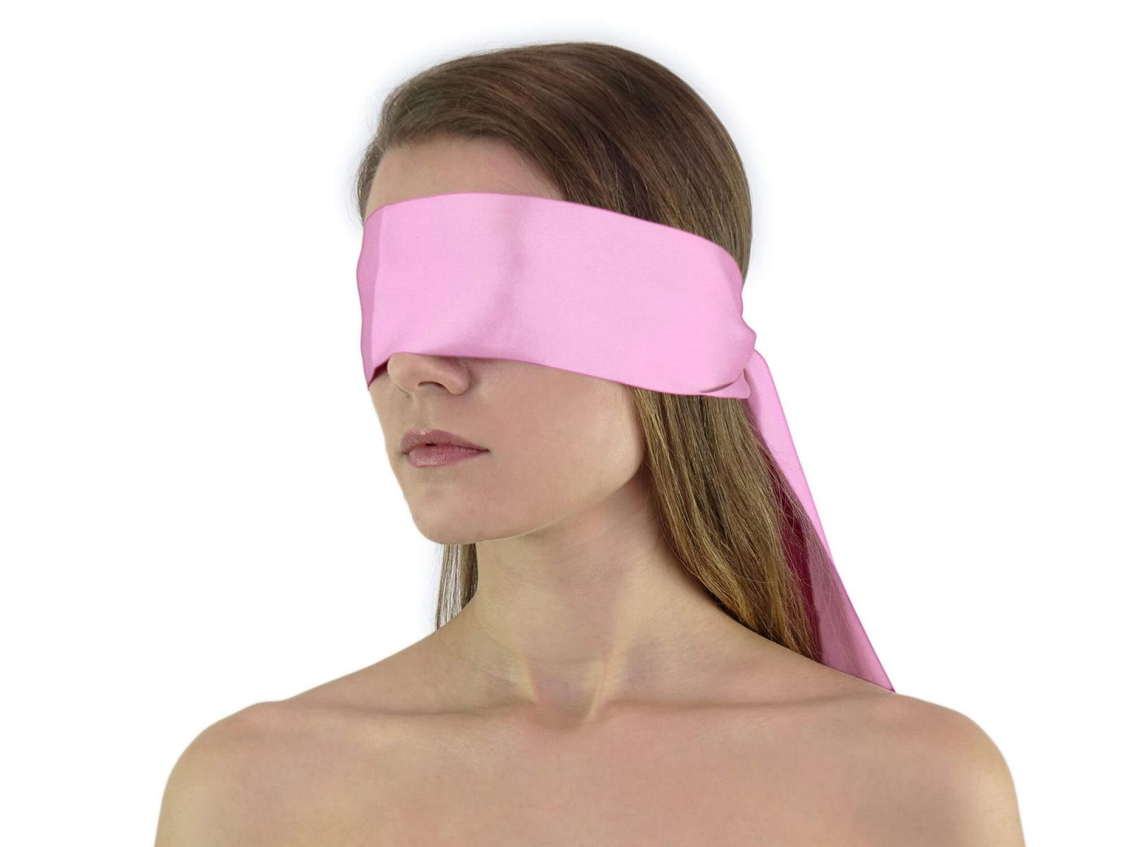 Premium Satin BDSM Augenbinde Rosa