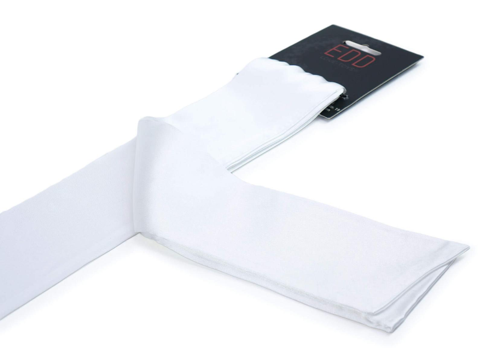 Premium Satin Bondage-Schal Weiß