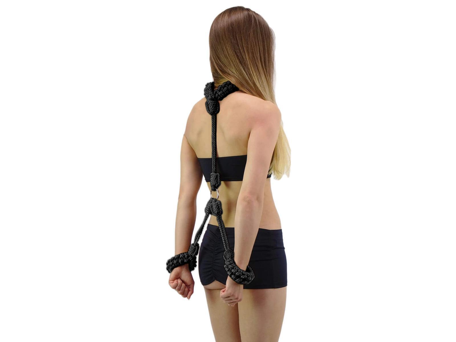 Shibari Selfbondage Rope - Hals-Handfessel schwarz
