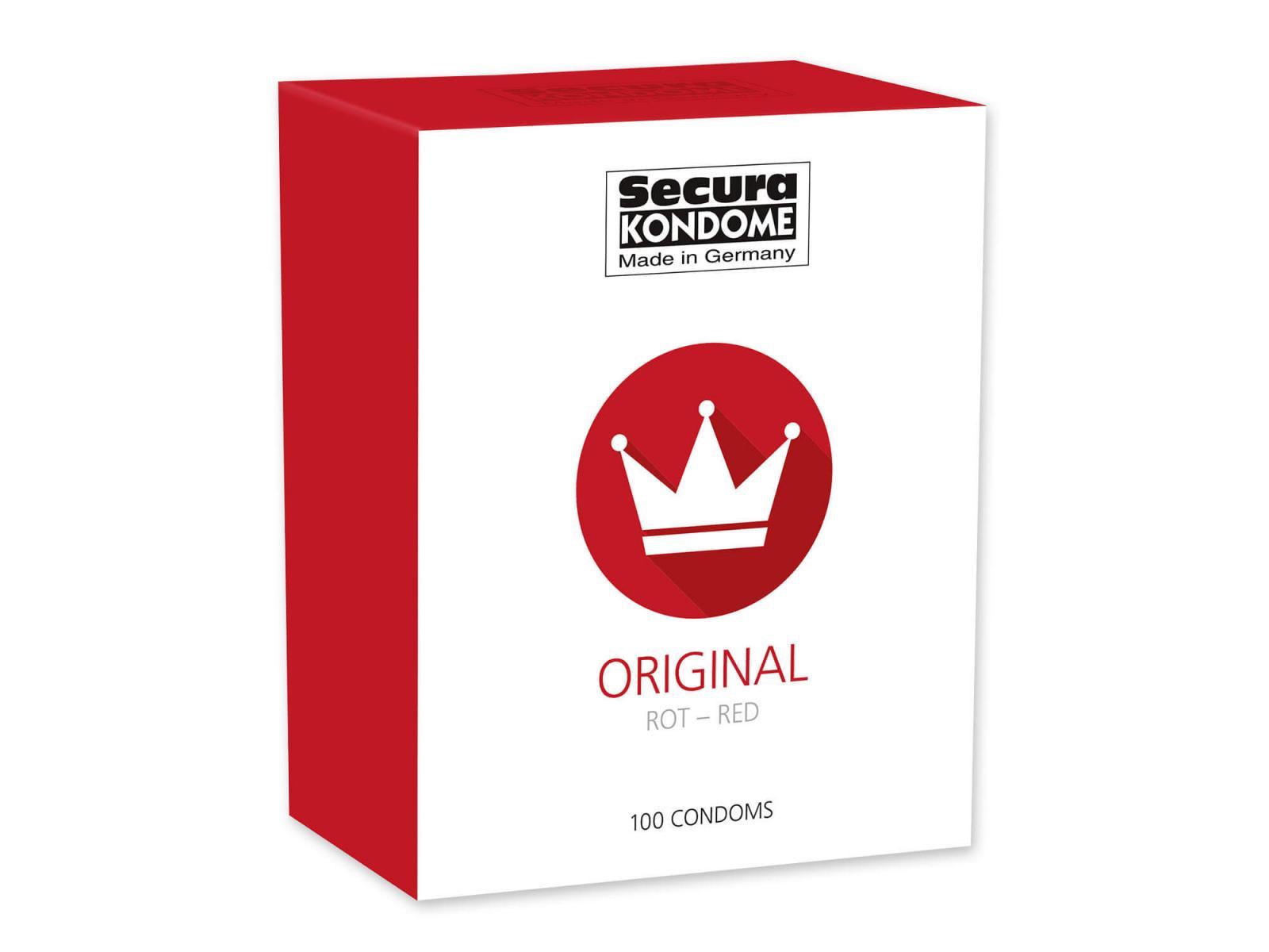 100er Packung Secura Red rote Kondome